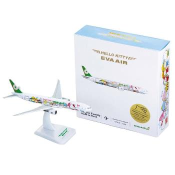 B777-300ER HELLO KITTY 牽手機 1:500 飛機模型