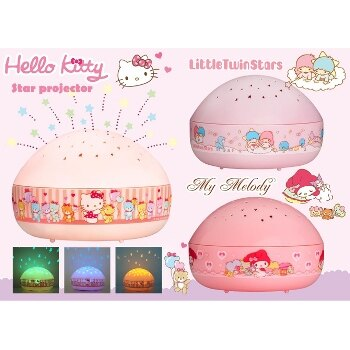 HELLO KITTY 星星投射夜燈(三入組)